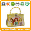 Kids Handbag Shape Metal Lunch Gift Tin Box with Handle