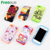 Freesub Sublimation Printing Phone Case with Silicon Cover for iPhone5