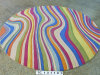 Hand Tufted Rainbow Striped Carpet