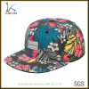 Floral Printed Snap Back Hats with Custom Woven Label Logo Wholesale