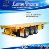 3 Axles Second Hand Used Flatbed Container Semi Trailer