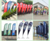Outdoor Knitted Polyester Advertising Beach Flag, Teardrop/Feather Flags Printing