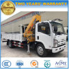Isuzu 4X2 6 Wheels 3 Tons Boom Truck Mounted with Fold Able Crane
