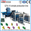 Full Automatic Concrete Block Making Machine Production Line Qt4-15