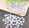 Colorful Nail Pearl Decoration Glitter Nail Rhinestone Decoration Tools Half Round Pearls ABS Pearl Nail Accessory (TP-colorful nail rhinestone)