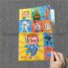 Cheap Price A4 Size PP File Folder, Plastic PP L Shape Folder with Anime Designs