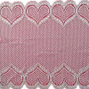 Elastic White Knitted Heart Elastic Lace Nylon Fabric