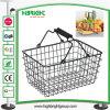 Supermarket Powder Coating Black Wire Shopping Basket