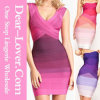 Newest Fashion Rainbow Bandage Dress