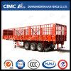 Cimc Huajun 3axle Flat-Type Cargo Stake Semi Trailer with Short Locks