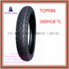High Quality, Tubeless Nylon 6pr Motorcycle Tyre with 360h18 Tl