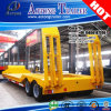 80 Tons Excavator Double Axles Lines Low Bed Trailer for Indonesia