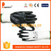 Ddsafety 2017 White Nylon with Black Nitrile Glove