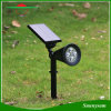 Solar Spotlight 2-in-1 Adjustable 4 LED Wall Mount /Landscape Insert Solar Lights with Automatic on/off Sensor
