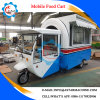 High Quality 4 Wheel Hot Dog Stainless Steel Food Cart