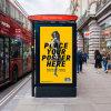 Media Illuminated Standing Outdoor Advertising Lightbox Mupi Display