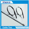 201 304 316 Steel Cable Tie Ball Locked with PVC Coated