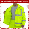 Fluorescent Black Yellow Reflective Tape Work Jackets for Engineer (ELTHJC-515)