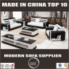 Italy Pure Leather Modern Furniture with Coffee Table and TV Stand for Living Room