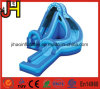 Curve Action Lane Inflatable Blue Water Slide