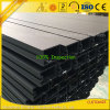 Extruded Anodized Balck Aluminium Extrusion Curtain Wall Profile