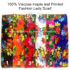 100% Viscose Hot Sale Fashion Ladies Maple Leaf Printed Scarf