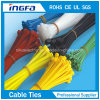 Ce ISO9001 Approved Nylon Zip Tie Stainless Steel Inlay
