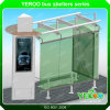 Metal Bus Stop Shelter Advertising Bus Shelter Equipment