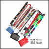 Merchandising Brand Custom Neck Polyester Fiber Lanyards with Logo Printed ID Card Holder