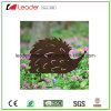 Wholesale Powder Coat Metal Hedgehog Silhouette Stake with Rusty Look for Garden Decoration