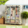 New Design Fabric Living Room Furniture Canvas Wardrobe