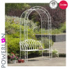 Metal Iron Garden Arch with Seat