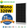 Ce TUV IEC UL Certificate Mono 24V Solar Panel 320W
