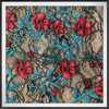 Multicolor Lace Fabric with Embroidery Nylon Lace Fabric with Embroidery