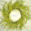 Je191 Spring Colorful Handmade Paper Winter Jasmine Flower Wreath Artificial Flowers