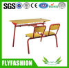 Wooden Furniture Double Desk and Chair Set for Student (SF-23D)