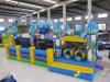 Large Inflatable Dinosaur Obstacle Game Castle for Kids (RB5006)