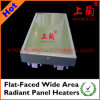 Flat-Faced Wide Area Radiant Panel Heaters