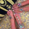 Fashion Metal Alloy Colorful Glittering Rhinestone Diamond Crystal Anklet Jewelry