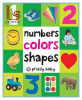 Numbers Colors Shapes (First 100) Board Book Educational Toy