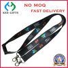 Cmyk Heat Transfer Printed Phone Lanyards for Promotion with Double Dog Clip, Safety Clip