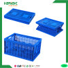 Plastic Folding Stackable Multifunctional Crate with Lid