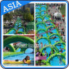 100m Dual Lanes Inflatable Water Slip N Slide The City / Slip Slide / Belly Slide