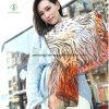 2017 Newest Lady Fashion 100% Silk Scarf with Printed Shawl
