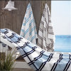 100% Cotton Velour Stripe Bath Towel Beach Towel