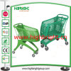 All Plastic Shopping Trolley Cart with Plastic Handle and Feet