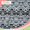 Lace Dress Design 100 % Milky Polyester Chemical Lace Fabric