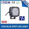 CREE LED Spot Warning Light Blue 4D Optic Lens 15W