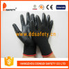 Ddsafety 2017 Black Nitrile with Mini Dotsglove Safety Gloves