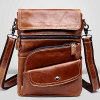China Designer Leather Bags Cheap Man Shoulder Bag (M3117)